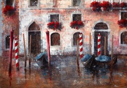 Dentro Venezia by Paolo Fedeli - Original Painting on Stretched Canvas sized 39x28 inches. Available from Whitewall Galleries